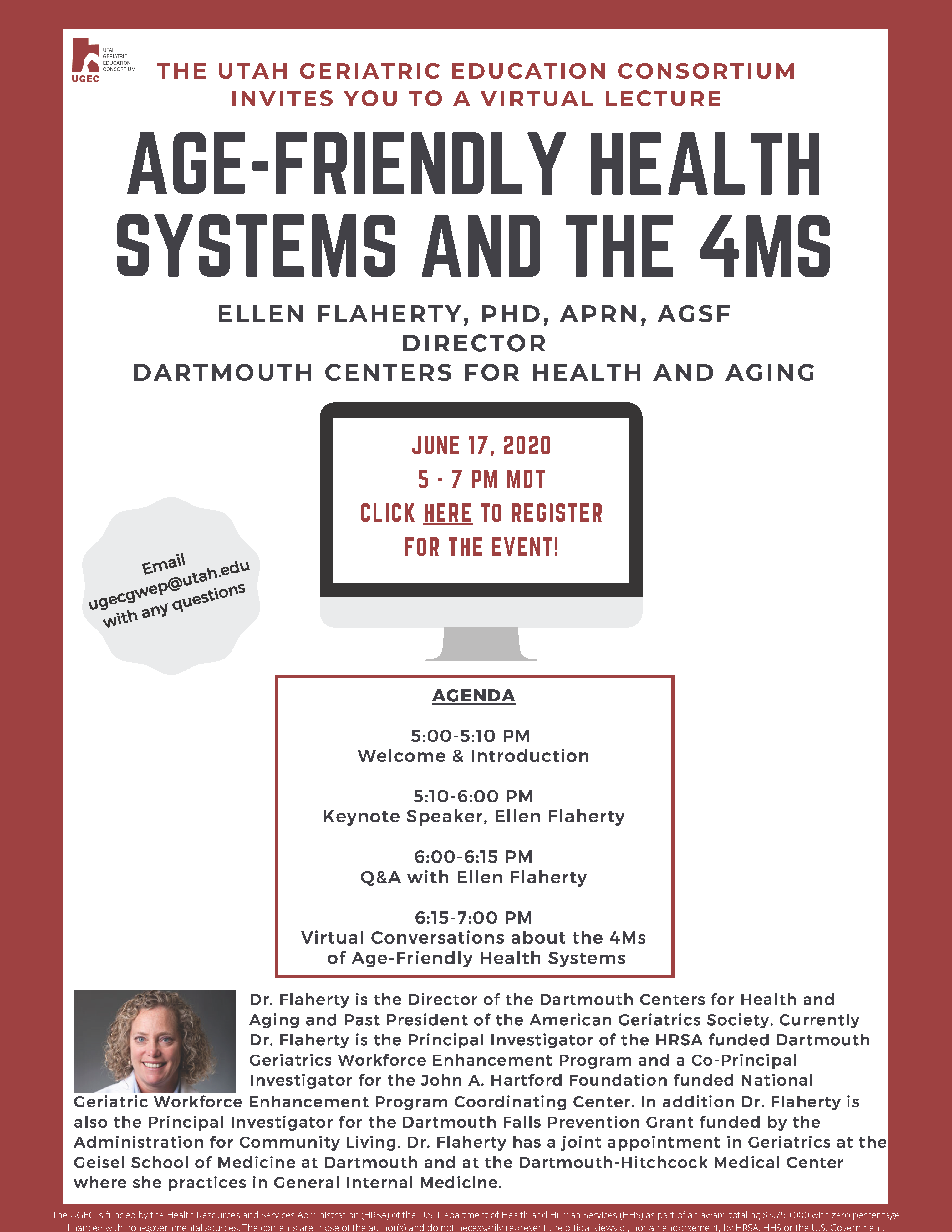 2020 UGEC Virtual Lecture Age Friendly Health Systems and the 4Ms
